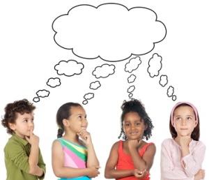niños pensando